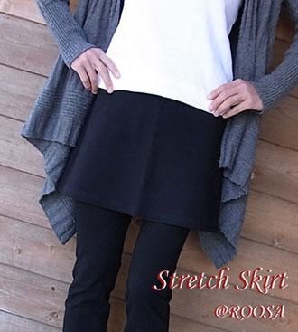 パンツスタイルに重ねてはいて♪重ねばき用ミニスカート/ストレッチパンツ専門店【ROOSAルーサ】