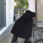 良質素材のワイドパンツ(黒ブラック)/伸び伸び楽々上質なスーパーストレッチ素材!