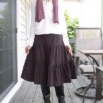 大人可愛い♡ティアードミディアムスカート/ストレッチパンツ専門店【ROOSAルーサ】
