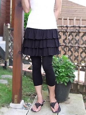 ティアードminiスカート/ストレッチパンツ通販専門店【ROOSAルーサ】