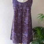 インドネシア・バリ島から直輸入!バティック染めの大人可愛いチュニック/パープル(紫)