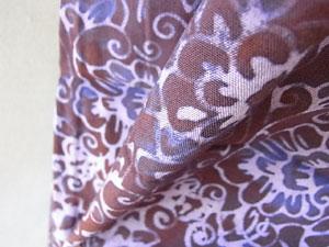 スタンプバティック染めチュニック・パープル紫/レディースファッション通販ストレッチパンツ専門店【ROOSAルーサ】