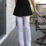 春に向けてはきたい、ピュアホワイトのストレッチパンツ♡