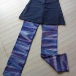 新色ストレッチパンツのご案内/ブルー&パープルの美しいバティック染めです