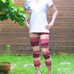 夏の清涼【 美脚サブリナパンツ 】根強い人気の『ピンク&ブラウンボーダー』